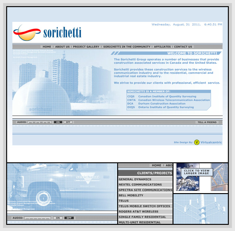 Sorichetti (2002) - Web & Graphic Design, Flash, Actionscript