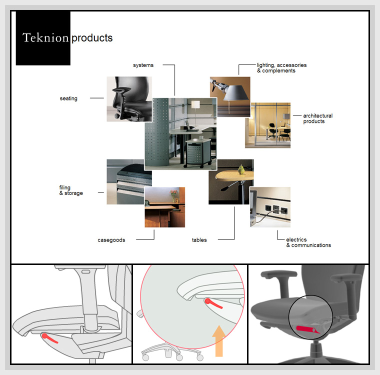 Teknion Product CD(2002) - Graphic Design, Flash, Actionscript